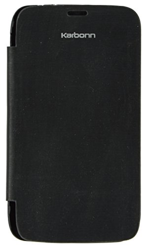 iCandy Black Synthetic Leather Flip Cover For Karbonn Smart A111  available at amazon for Rs.99