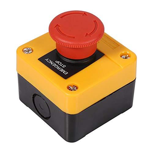 Descripción: Nuestro interruptor de parada de emergencia está hecho de material plástico y metal de alta calidad, seguro y duradero. 4 terminales de tornillo, 1 tipo de contacto NO + 1 NC DPST, interruptor de botón de parada de emergencia de seta roj...