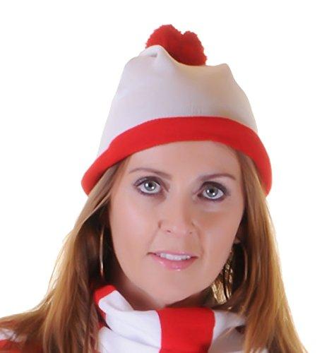 Mujer Niñas Wheres Gorro Camiseta Rojo Blanco Ladies
