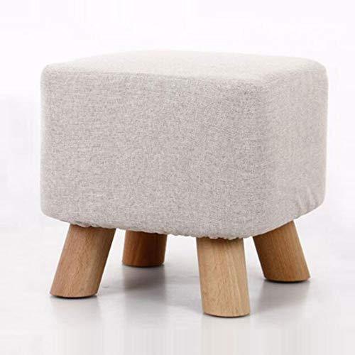 Big seller Fußbank Hocker aus Holz Ottomane runder Hocker Holzbein Padde d 4 Farben zur Auswahl (Farbe : Weiß)