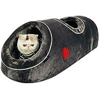WWSSXX Nuevas Camas para Gatos Suave Y Cálida Cama para Perros Pequeños Coral Fleece Cat Tunnel