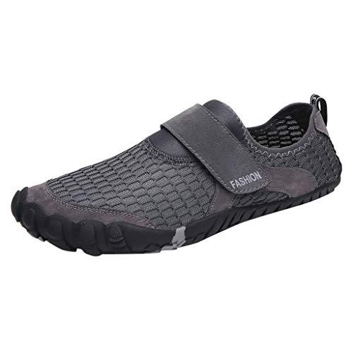Fenverk Herren Laufschuhe Mesh leichte athletische Turnschuhe Sport Herren Outdoor Fitnessschuhe Atmungsaktive Mesh Schuhe Sport Size 39-46(Grau,40 EU)