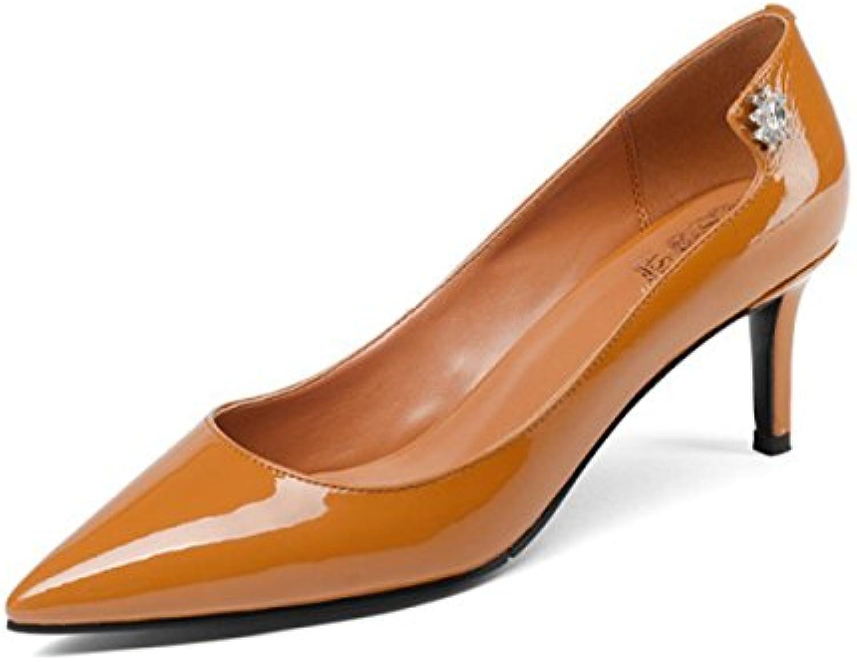 Frauen Schuhe Mit Hohen Absätzen Lackleder Schwarz Beruf Spitzschuh Stiletto Pumps Pumps Court Schuhe High Heels