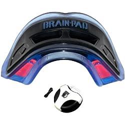 Brain-Pad 3XS - Protector bucal doble para adultos, tamaño único, color azul y negro