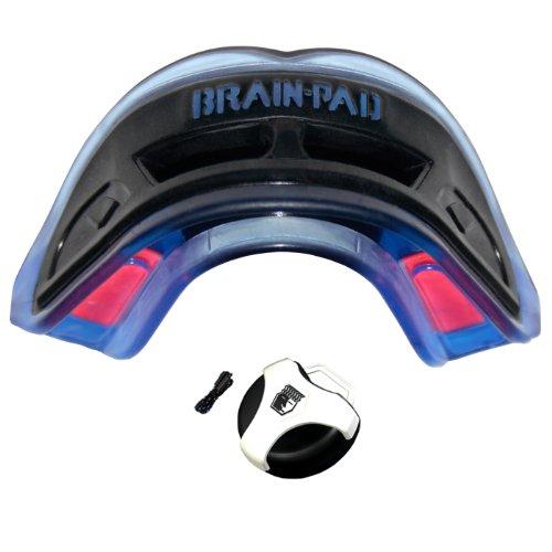 Brain-Pad 3XS - Protector doble para adultos, color azul y negro