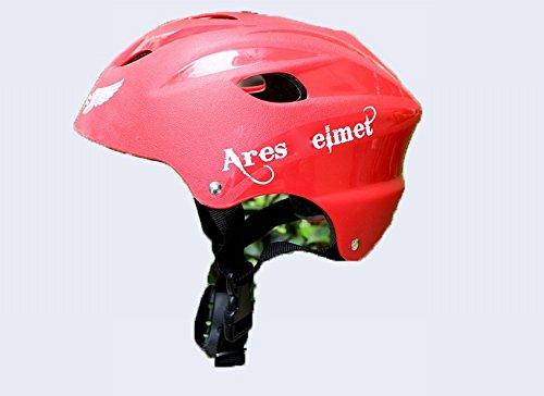 xy Sportschutzausrüstung Persönlichkeit Ares Helm Helm Rollschuhe Außenreithelm Kopfwerkzeug,Rot,Einheitsgröße