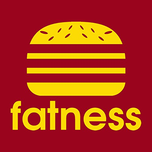 Fatness Adidas Burger Logo Women's T-Shirt Cherry Red