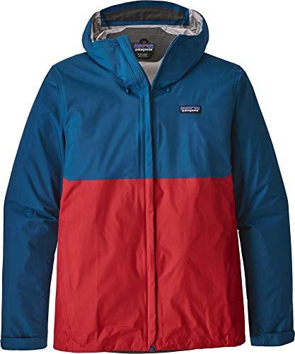 Patagonia Men's Torrentshell Jacket, Big Sur Blue/Fire Red, X-Large