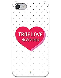 iPhone 7 Cases & Covers - True Love Never Dies Case by myPhoneMate - Designer Printed Hard Matte Case - Protects from Scratch and Bumps & Drops.