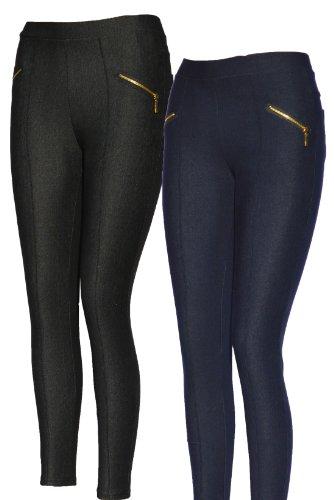Legging thermique Jeans, Jeggings, Jeans en jeans bleu ou Jeans Femme Noir Jeansschwarz