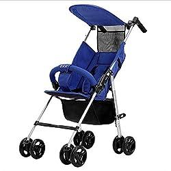 Huckyi Bebé Plegable Cuatro Ruedas Bicicleta para Niños de 6 Meses a 5 Años Máx 30 kg(Azul Gris Rojo),Blue