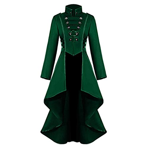 Männer Austin Kostüm Powers - Innerternet Damen Langarm-Mantel Frack Jacke Gothic Gehrock Mode Steampunk Button Lace Retro-Smoking Männer Uniform Halloween Kostüm Party Oberbekleidung Plus Size