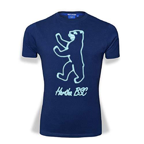 Hertha BSC Berlin Neondruck T-Shirt (XL, blau)