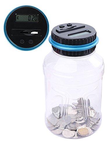 Münzen Große (Caeser Archy Digital Münze Zählen Geld Jar LCD Display Large Kapazität Geld Spardose Geld Banken (Pound))