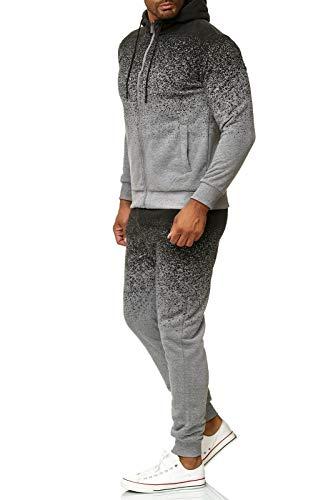 OneRedox   Herren Trainingsanzug   Jogginganzug   Sportanzug   Jogging Anzug   Hoodie-Sporthose   Jogging-Anzug   Trainings-Anzug   Jogging-Hose   Modell 1038 Grau M
