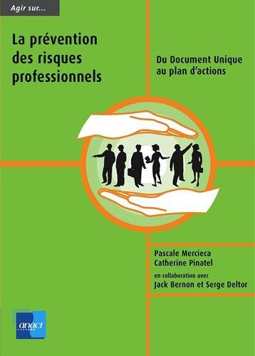 Agir sur la prévention des risques professionnels : Du document Unique eu plan d'actions par P.Mercieca C.Pinatel
