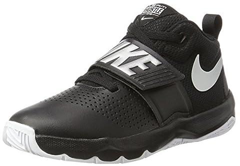 Nike Team Hustle D 8 Gs, Chaussures de Basketball Fille, Noir (Black/Mtlc Silver/White), 39 EU