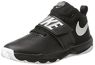 huge selection of dde0a 09683 Image Unavailable. Image not available for. Colour  Nike Kids Team Hustle D  8 (GS) Black Metallic Silver White Basketball Shoe