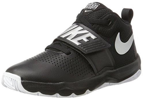 Nike Team Hustle D 8 (GS), Chaussures de Basketball Garçon, Multicolore (Black/Metallic Silver-White 001), 40 EU