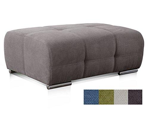CAVADORE Polsterhocker Mistrel mit Steppung / Sofa-Hocker im modernen Design / Passend zur Polsterserie Mistrel / 109 x 42 x 73 / Dunkelgrau