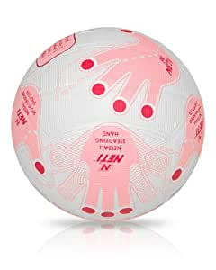 NET1 Ballon de netball pour femme Blanc blanc/rose Size 4