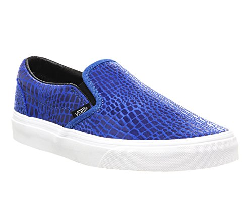 Vans - Classic, Slip-On Unisex – Adulto Blu ((snake leather) blue)