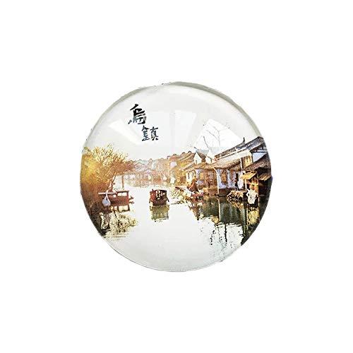 3D Wuzhen Zhejiang China Kühlschrank Kühlschrankmagnet Kristallglas Handgemachte Touristen Reise Souvenir Sammlung Geschenk Whiteboard Magnetischen Aufkleber Dekoration