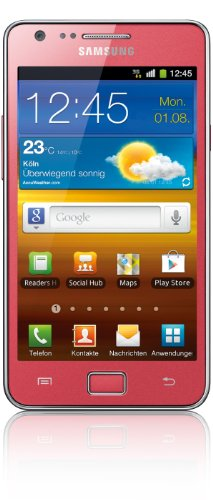 Samsung Galaxy S II i9100G DualCore Smartphone (10,9 cm (4,3 Zoll) Display, 2 Megapixel Frontkamera, Android 2.3) coral-pink - Samsung Galaxy S2 Touchscreen