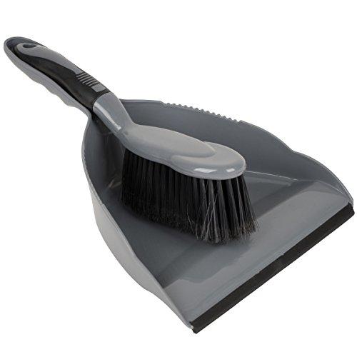 Preisvergleich Produktbild Kehrset für Camping Wohnwagen Haushalt oder Garten Farbe grau: Putzset Handfeger Kehrblech Kehrgarnitur Kehrschaufel