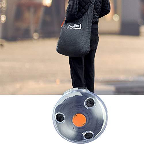 Kleine Disc Shopping Aufbewahrungstasche Tragbarer Mehrzweck-Einzelschultergurt mit großem Platzbedarf Geniales Design - - Discs