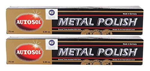Autosol 2X Metal Polish Edel Chromglanz Metall Politur Chrompolitur 75 ml