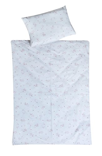 Schardt 13 501 1/766 2-teilige Kinderbettwäsche Tiny Stars, beige