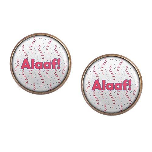 ar mit Motiv Alaaf Karneval Pink Blau Weiß Konfetti bronze 16mm ()