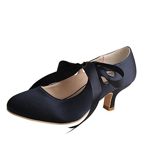 Wedopus wdf7051, sandali con zeppa donna, bianco (marina militare), 40