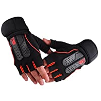 JWBOSS Cycling Sport Exercise Half Gloves Weight Gloves Lifting Gym Fitness Workout Training Non Slip