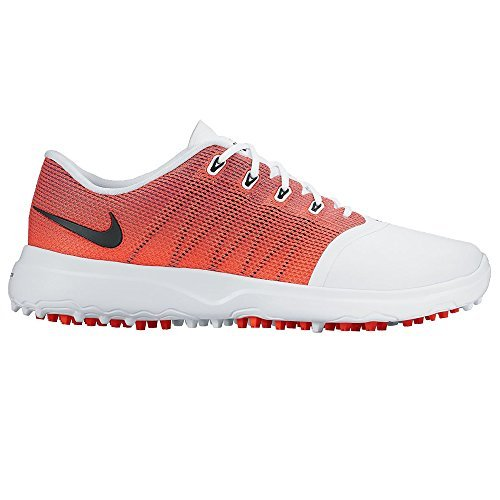 Nike, Scarpe da Golf Donna Multicolore Bianco/Arancione 38
