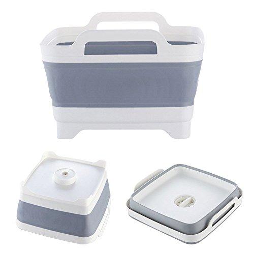 Portátil plegable Cesta de almacenamiento fregadero Lavar Frutas y verduras drenaje organizador de cocina accesorios suministros Gear artículos Stuff