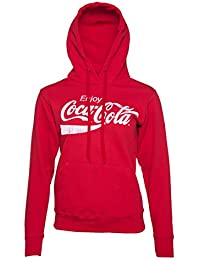 Womens Red Enjoy Coca Cola Hoodie