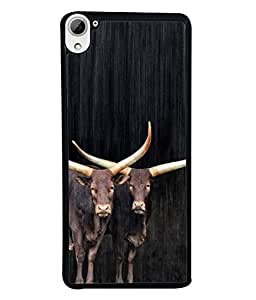 Snapdilla Designer Back Case Cover for HTC Desire 826 :: HTC Desire 826 Dual Sim (Cattle Mamal Wildlife Grass Picture Abstract)