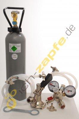 Accessori pacchetto 4con 2x 5L Profi Adattatore, tubo 7mm birra e 2,0kg CO2per leitige a 2rubinetti di mescita