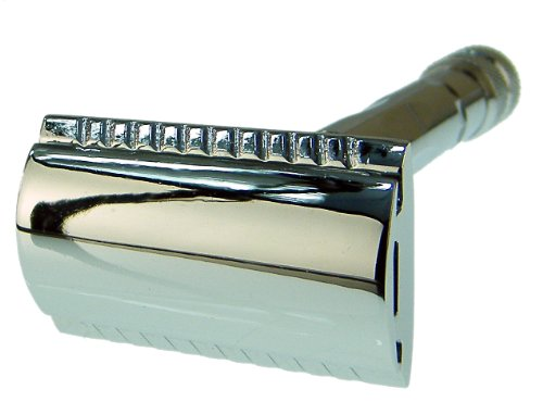 Parker Model 89R Three Piece Safety Razor with Nickel Plated Finish -