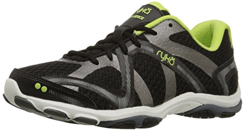 Ryka Damen Influence, w, Black/Sharp Green/Forge Grey/Metallic, 39.5 EU