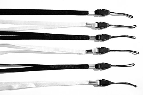 Halsband | Umhängeband | Trageband (6er Pack) für USB-Sticks, MP3-Player, Schlüssel, Ausweis, Pfeife, Kompass