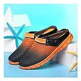 YAYADI Herrenschuhe Sommer Lässig Netzwerk Atmungsaktive Schuhe Slip On Schuhe Outdoor Beach Flip Flops Reiten Reisen Outdoor Produkte, 8,5