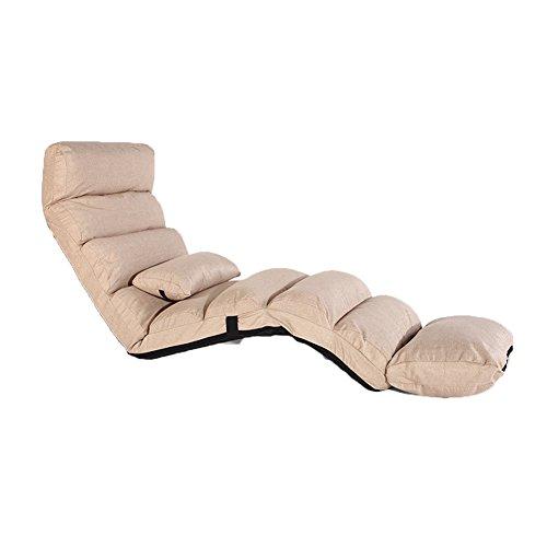 L&Y Sofá Cama- Sillas reclinables Lounger Sofa Tatami Plegable Sofá Cama pequeña Respaldo de computadora Silla Sofá de Suelo (Color : Beige)