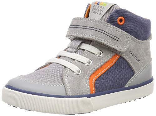 Geox Baby Jungen B Kilwi Boy C Sneaker Grau (Grey/Avio C0493), 27 EU