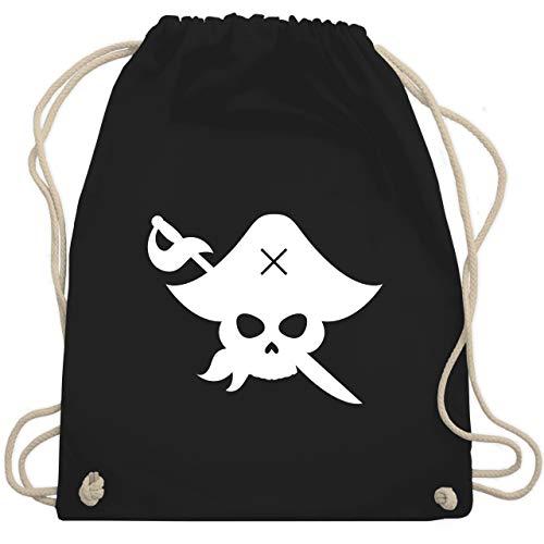 Karneval & Fasching Kinder - Pirat Kostüm Fasching - Unisize - Schwarz - WM110 - Turnbeutel & Gym Bag (Piraten Kostüme Ideen)