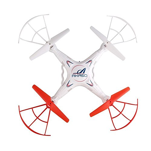 AKASO-X5C-4CH-24GHz-6-Axis-RC-Quadcopter-with-HD-Camera-Gyro-Headless-360-degree-3D-Rolling-Mode-2-RTF-RC-Drone-Bonus-MicroSD-card-Blades-Propellers-included