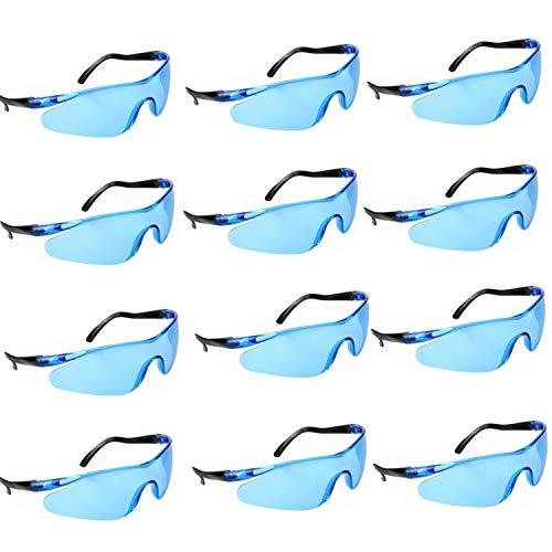 YAAVAAW 12 Pack Gafas Seguridad Transparentes Gafas