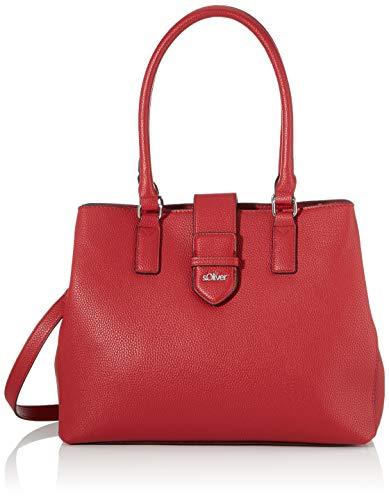 s.Oliver (Bags Damen 39.910.94.5807 Henkeltasche, Rot (Red), 10x27x33 cm